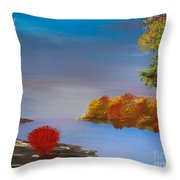 Evening On The Last Sunny Day Throw Pillow