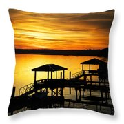 Evening On The May Throw Pillow