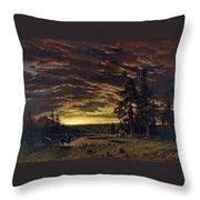 Evening On The Prairie Throw Pillow