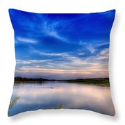 Evening On The River Throw Pillow