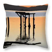 Evening On The Sacramento River Throw Pillow