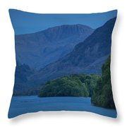 Evening Over Derwentwater Throw Pillow