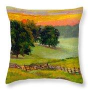 Evening Pastures Throw Pillow