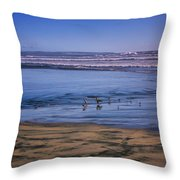 Evening Peace On Coronado Beach Throw Pillow