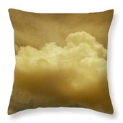 Evening Rain Cloud Throw Pillow