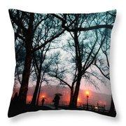 Evening Rain Photofresco Throw Pillow