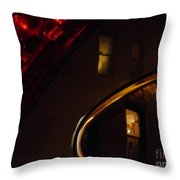 Evening Reflection On A Parked Car Throw Pillow