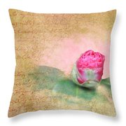 Evening Rosebud Throw Pillow