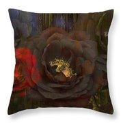Evening Roses Throw Pillow