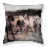 Evening Roundup - Featured In Comfortable Art Group Throw Pillow