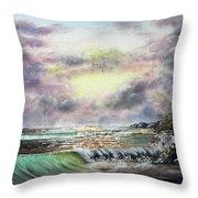 Evening Seashore Throw Pillow