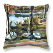 Evening Shadows At Shepherd Mountain Lake  No W101 Throw Pillow