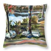 Evening Shadows At Shepherd Mountain Lake  No W101 Throw Pillow