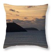 Evening Skies At Polzeath Throw Pillow