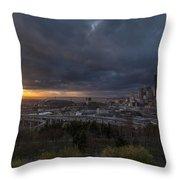Evening Skies Light Throw Pillow