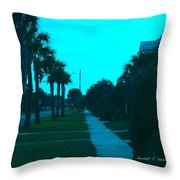 Evening Stroll At Isle Of Palms Throw Pillow