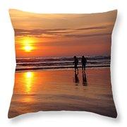 Evening Stroll Throw Pillow
