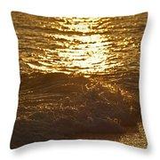 Evening Sun Hive Beach Four Throw Pillow