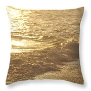 Evening Sun Hive Beach Three Throw Pillow