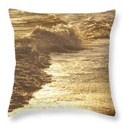 Evening Sun Hive Beach Two Throw Pillow