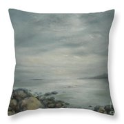 Evening Sunlight On The Bay Throw Pillow