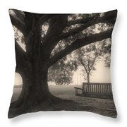 Evening Swing - Oak Tree - Altus Arkansas Throw Pillow