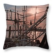 Evening Time On The St. Johns River Throw Pillow