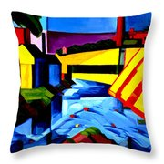Evening Tones Throw Pillow