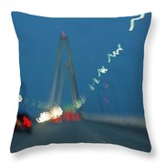 Evening Travelers Abstract Throw Pillow