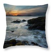 Evening Turmoil Throw Pillow