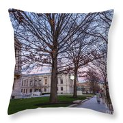 Evening Walk At Themuseum Of Fine Arts Throw Pillow