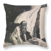 Evening Wind Throw Pillow by Edward Hopper