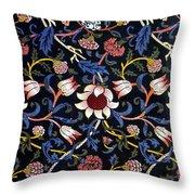 Evenlode In Blue Design Throw Pillow