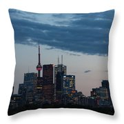Eventide - Slow Dusk In Toronto Throw Pillow