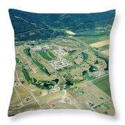 Ever-expanding Driggs, Idaho. Teton Throw Pillow