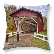 Everett Covered Bridge Throw Pillow