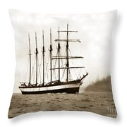 Everett G. Griggs Sailing Ship Washington State 1905 Throw Pillow