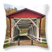 Everett Road Bridge Throw Pillow