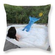 Everglades City Florida Mermaid 017 Throw Pillow
