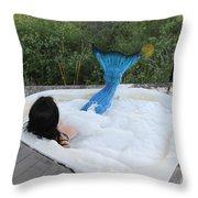 Everglades City Florida Mermaid 018 Throw Pillow