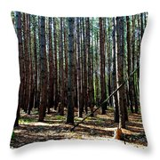 Evergreen Forest Throw Pillow
