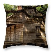 Evergreen Plantation Slave Quarters Throw Pillow