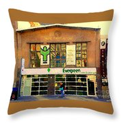 Evergreen Yonge St  Scenes Building A Better Toronto One Person At A Time Community Center Cspandau Throw Pillow