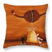 Every Angel Needs A Bunny Throw Pillow