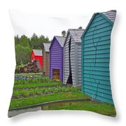 Every Garden Needs A Shed And Lawn Two In Les Jardins De Metis/reford Gardens Near Grand Metis-qc Throw Pillow
