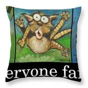 Everyone Farts Poster Throw Pillow