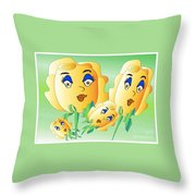 Everyone Loves Roses 2 Throw Pillow