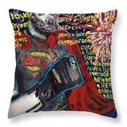 A Hero Throw Pillow
