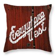 Everywhere West Throw Pillow