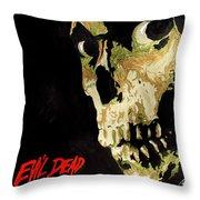 Evil Dead Skull Throw Pillow